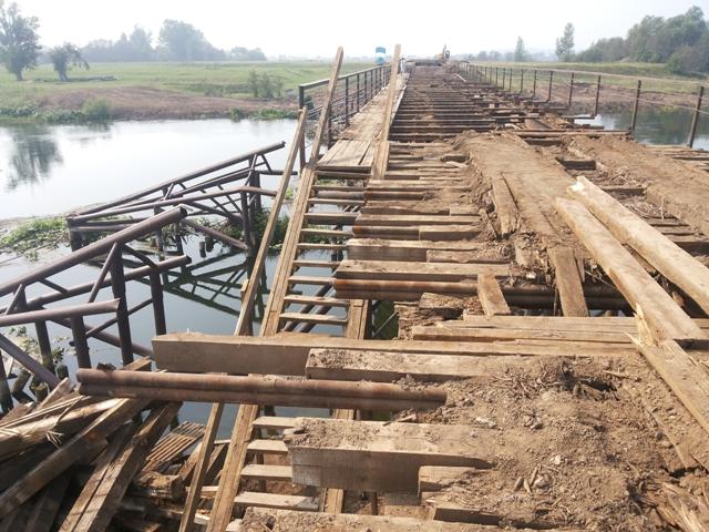 Ремонт деревянных автомобильных мостов